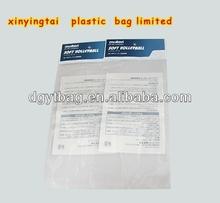 custom printing opp header bag self adhesive clear window opp bag for comb