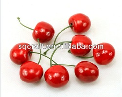 Fake cherry fruits/House or party decoration artificial vegetables and fruits/ Simulated vegetable and cherry fruit