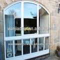 De la fábrica venta al por mayor de aluminio de doble cristal de arco ventana