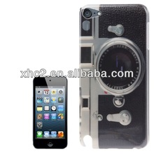 Hot design Camera Pattern Smooth Plastic Case for iPod touch 5