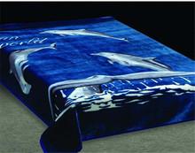 100% polyester animal printed mink blanket