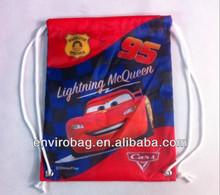 210D Polyester with Eyelets at Base Sublimation Drawstring Bag