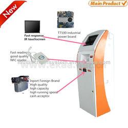 Indoor self kiosk payment machine accept cash /coin / card dispenser machine