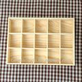 caseiro sólidos de madeira caixa de chá saco de classificação de armazenamento dos doces caixa de exposição do produto with15 pcs gridslove e estilo simples