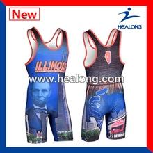 2014 Newest design custom sublimated wrestling wear