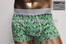 leisure Men's underwear,cotton/spandex men's boxer shorts