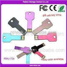 Custom Logo Laser Ultra Thin Key Shaped USB Flash Drive with USB 3.0 from 128mb to 64gb