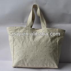 wholesale plain canvas /canvas chevron tote bag wholesale