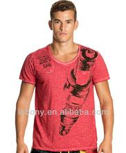 Blank gym singlets train running OEM & ODM Piece dyeing process T shirts