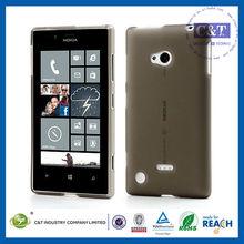 C&T Back Clear gel tpu silicone case for nokia lumia 720