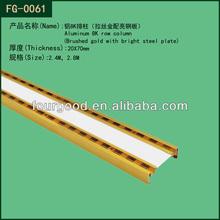 Display hanging channel / aluminium upright