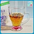 Popular 12oz ice- creme de vidro/raia de chá de leite de vidro/copos promocionais