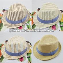 British Style mans straw fedora hat