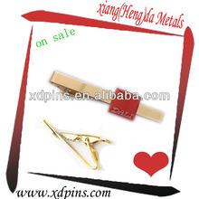 custom gold epoxy coated metal clip tie