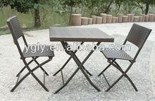 3 pieces rattan dining furniture set
