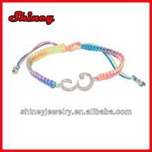 Tween Rainbow Monogram E Bracelet adjustable magnetic bracelet