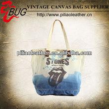 2014 Guangzhou stocklot Dip-dye Canvas Tote bag for shopping