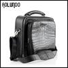 Luxury style genuine cow leather sky travel luggage bag