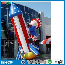 cute inflatable rocket