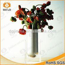 new arrival acrylic salt pepper,purple acrylic square vase,crystal office craft