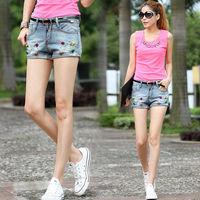 2014 summer new women's denim shorts shorts female gem factory direct