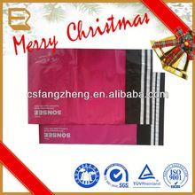High quality full color printing destructive glue plastic lined kraft paper bag