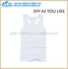 women's sleeveless plain white cotton round neck t shirt