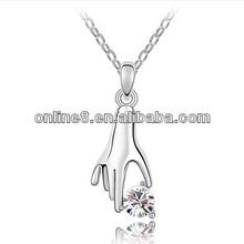 Crystal Fashion Pendant Necklace necklace jewelry connect