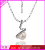 Fulemay Jewelry 2014 Fashion Show Spring Rhinestone White Pearl Pendant Necklace For Women FPN014