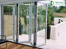 hot sell aluminium frame folding door for cook room