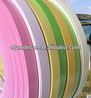 Furniture plastic shelf edge strips