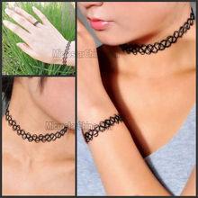 Hippy Tribal Gypsy Boho Stretch Tattoo Henna Choker Necklace Bracelet Ring Sets