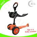 2012 yeni mini 3 tekerlekli çocuk scooter sepeti( ce)