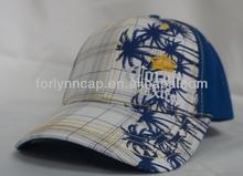 6-panel baseball cap with front & visor printed