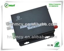 2 Channel security system 1ch sm sx video fiber optical transceiver