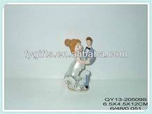 Polyresin wedding ceremony & wedding anniversary gifts, mini crack fat bride wedding souvenirs