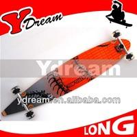 Longboard Skateboard Drop Through 42 Long Board 70mm Green Skate Abec 7 Complete