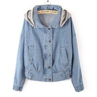 2014 new fall fashion jacket lapel long-sleeved shirt washed denim jacket lady