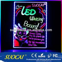 2014 Hot Sell neon bar writing board bar neon signs writable bar Led Board