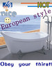 European style bathtub with high quality for corner