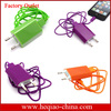 Colorful Ac charger 3in1 Charger Kit,Usb Ac Wall Charger,Cell Phone Charger For Iphone 4