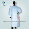 Disposable PP nonwoven/SMS printed Surgical gown/ isolation gown patient gown with elastic and knit cuff ISO standard
