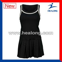 One piece tennis dress fashion design tennis dress popular tennis dress for team