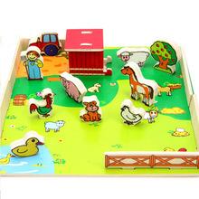 Plastik orman hayvan oyuncaklar, plastik vahşi hayvan oyuncak, çiftlik hayvan seti