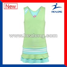 Diseñador tenis desgaste fuera de los hombros de trajes del vestido de tenis de las muchachas vestidos