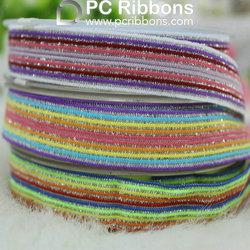 Wholesale colorful glitter jacquard elastic