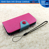 2014 New Lanunch Leather and PC wallet case for iPhone 5 5S 5G flip case cover for Spring