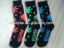 Men's New Plantlife Weed Leaf Cotton High Socks