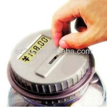 unique coin banks, bank digital coin counting money jar, plastic bottle money saving bank