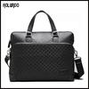 New design genuine leather men's briefcase fashion handmade leather bag